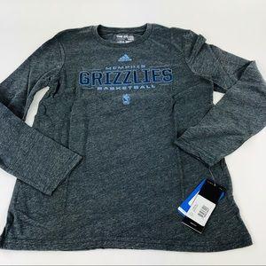 Memphis Grizzlies Adidas NCAA Basketball LS Tshirt